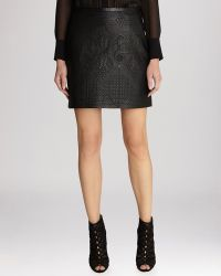Karen Millen Skirt - Tribal Quilted Faux Leather Collection - Lyst
