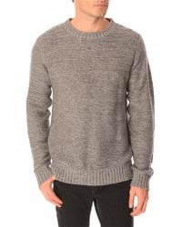 Selected Carson Grey Sweater - Lyst