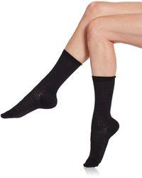 Saks Fifth Avenue Black Label - Textured Striped Socks - Lyst