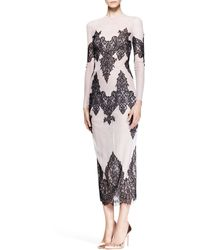 Wes Gordon Lace-Embroidered Tulle Cocktail Dress - Lyst