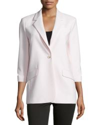 Elizabeth and James | Heritage James One-Button Crepe Jacket | Lyst