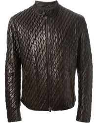 Giorgio Armani Scales Biker Jacket - Lyst