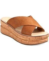 Belle By Sigerson Morrison Malmas Leather Platform Sandals brown - Lyst