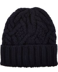 Moncler Cableknit Beanie - Lyst