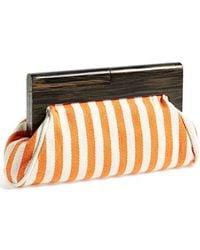Natasha Couture Women'S Wood Frame Clutch - Orange - Lyst