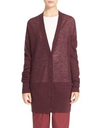 Acne studios 'rhoda' Knit Alpaca & Wool Cardigan in Purple | Lyst