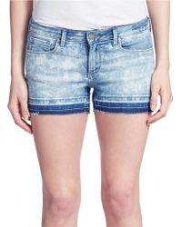 Jessica Simpson Frayed Denim Shorts - Lyst