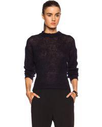 Acne Studios Pamela Mohair-Blend Sweater - Lyst