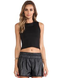 Charles Henry - Cropped Tank - Lyst