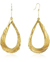 Aurelie Bidermann | Gold Swan Feather Earrings | Lyst