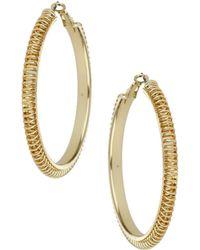 Topshop Spiral Hoop Earrings - Lyst