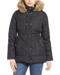 Krush - Faux-Fur-Trimmed Quilted Coat - Lyst