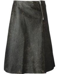 Acne Studios A-Line Skirt - Lyst