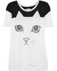 Zoe Karssen Cat Cotton and Modalblend Tshirt - Lyst
