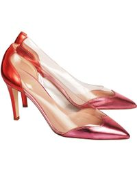 De Siena - Court Shoes With Pvc Pink And Red - Lyst