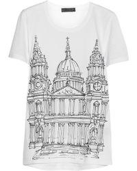Burberry Prorsum - London Printed Cottonjersey Tshirt - Lyst