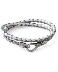Tod's Gray Braided Bracelet - Lyst
