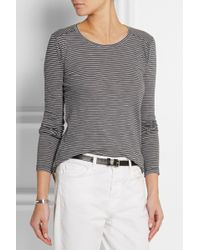 Madewell - Helena Striped Cotton-jersey Top - Lyst