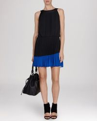 Karen Millen Dress - Color Block Pleated Collection - Lyst