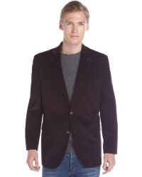 Ralph Lauren Deep Plum Corduroy Two Button Blazer - Lyst