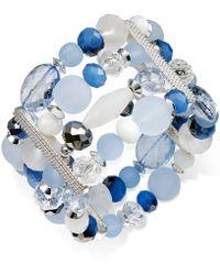 Style & Co. - Silver-tone Ice Blue Four-row Bracelet - Lyst