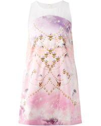 Manish Arora Printed Sequin Embellished Dress - Lyst