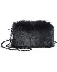 Loeffler Randall Fur Pouch Shoulder Bag - Lyst