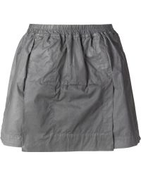 DRKSHDW by Rick Owens Flap Coated Wide Shorts - Lyst