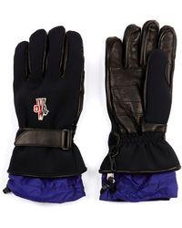 Moncler Grenoble Neoprene and Leather Ski Gloves - Lyst