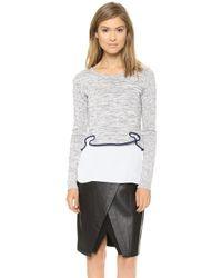 Sachin & Babi Sachin Babi Sandra Cropped Sweater Grey - Lyst