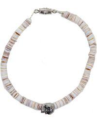 Duchess Of Malfi - Conus Shell Bracelet With Skull - Lyst