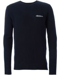 Chinti & Parker Front Pocket V Neck Sweater - Lyst