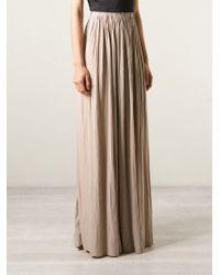 Lanvin - Pleated Maxi Skirt - Lyst