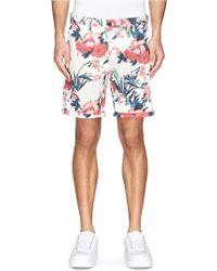 Scotch & Soda Floral Print Chino Shorts - Lyst