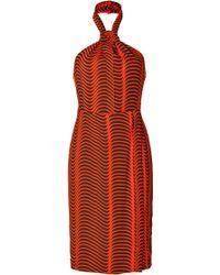 Kenzo Crepe Halter Neck Dress - Lyst