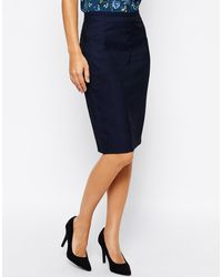 Oasis Jacquard Pencil Skirt - Lyst