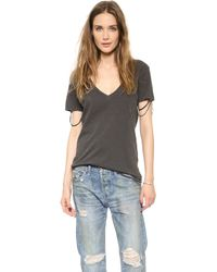 Nsf Clothing Cora Destroyed Tee  - Lyst