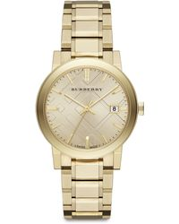 Burberry City Goldtone Stainless Steel Watch - Lyst