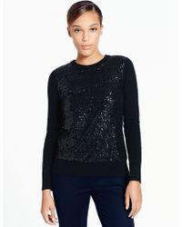 Kate Spade Fluffy Wool Sequin Sweater black - Lyst