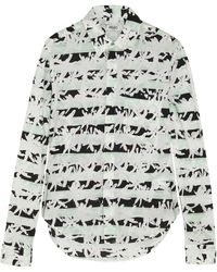 Kenzo Palm Tree-Print Cotton-Poplin Shirt - Lyst