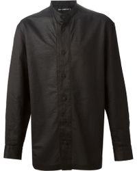 Issey Miyake Men Mandarin Collar Shirt - Lyst