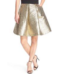 Eliza J Metallic Jacquard Flared Skirt - Lyst
