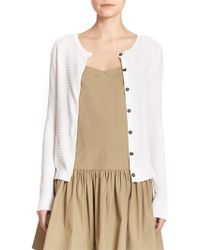 Marc By Marc Jacobs Compact Cotton Cardigan white - Lyst