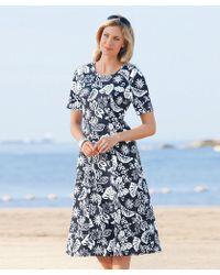 DAMART - Jersey Dress - Lyst