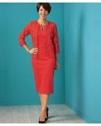 DAMART - Dress With Jacket - Lyst
