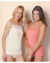 DAMART - Pack Of 2 Thermal Camisoles - Lyst