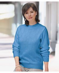 DAMART - Cable Knit Sweater - Lyst