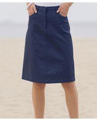 DAMART - Cotton Stretch Skirt - Lyst