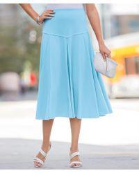 47807fe91e3 Damart Jersey Panelled Skirt in Purple - Lyst