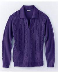 DAMART - Zipped Cardigan - Lyst